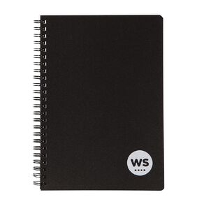 WS Notebook PP Wiro 200 Pages soft cover Black A5