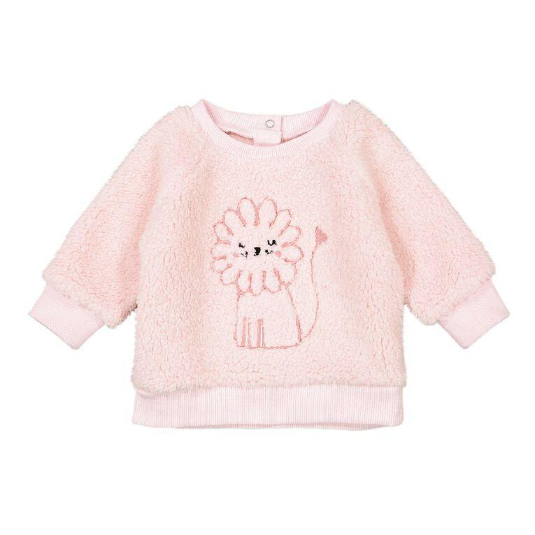 Young Original Baby Sherpa Sweatshirt, Pink Light, hi-res