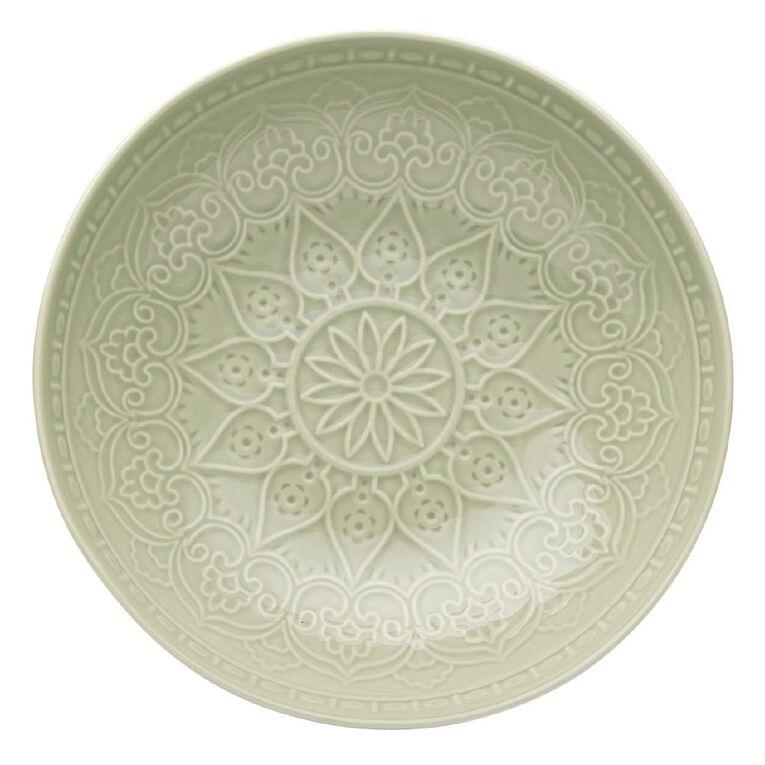 Living & Co Glazed Moroccan Salad Bowl Sage 28cm, , hi-res