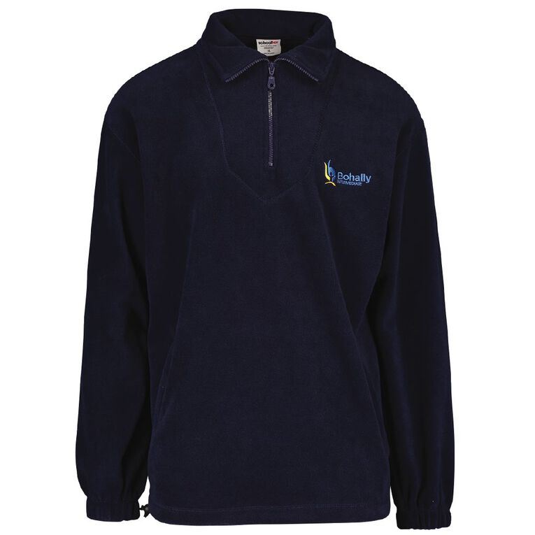 Schooltex Bohally Intermediate Polar Fleece Top with Embroidery, Navy, hi-res