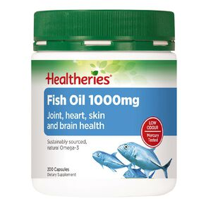 Healtheries Fish Oil 1000mg 200 Pack