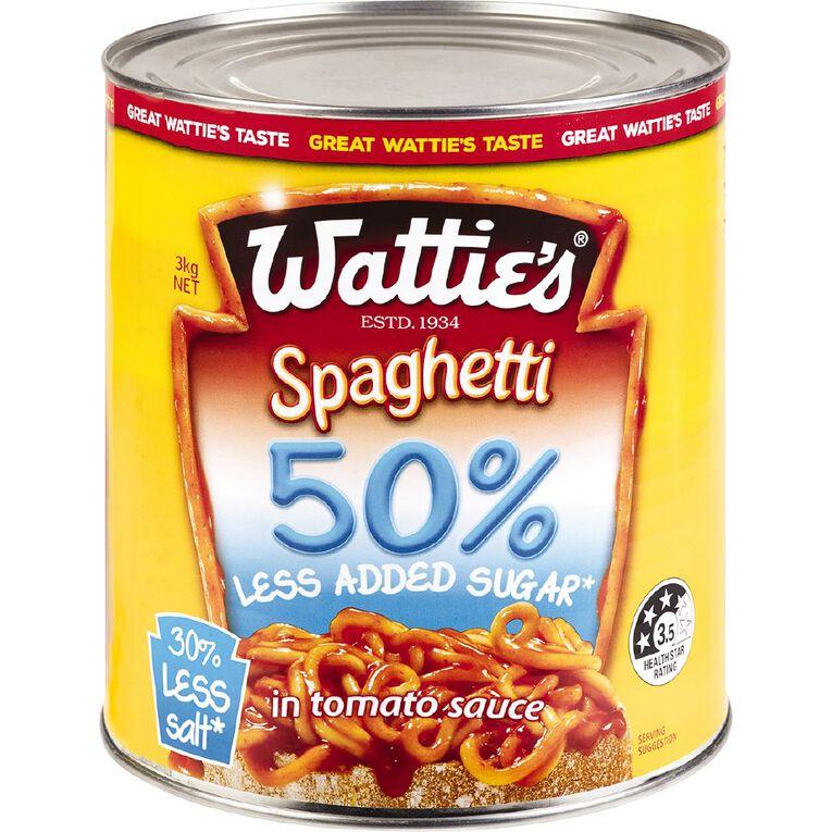 Wattie's Spaghetti 50% Less Added Sugar 3kg, , hi-res