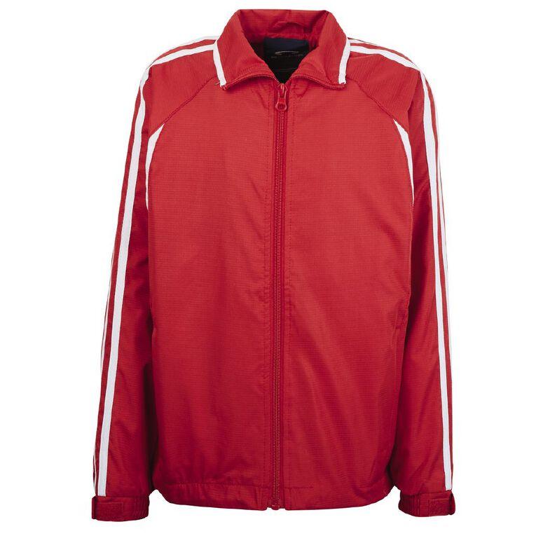 Schooltex Flash Track Jacket, Red/White, hi-res