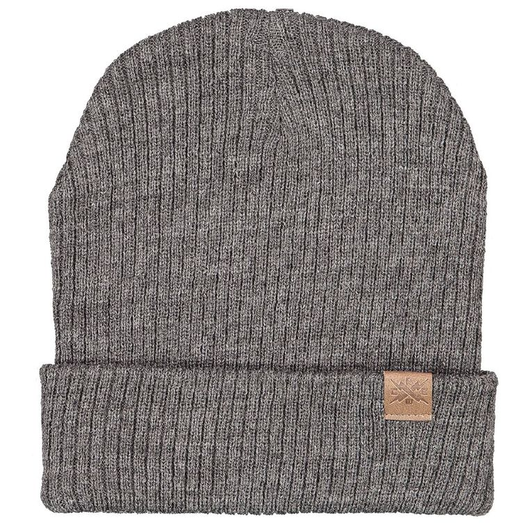 Young Original Rib Slouch Beanie, Charcoal/Marle, hi-res