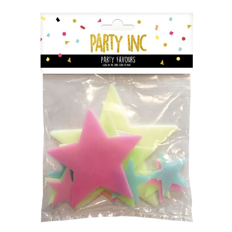 Party Inc Glow in the Dark Stars Mixed Assortment 15 Pack, , hi-res