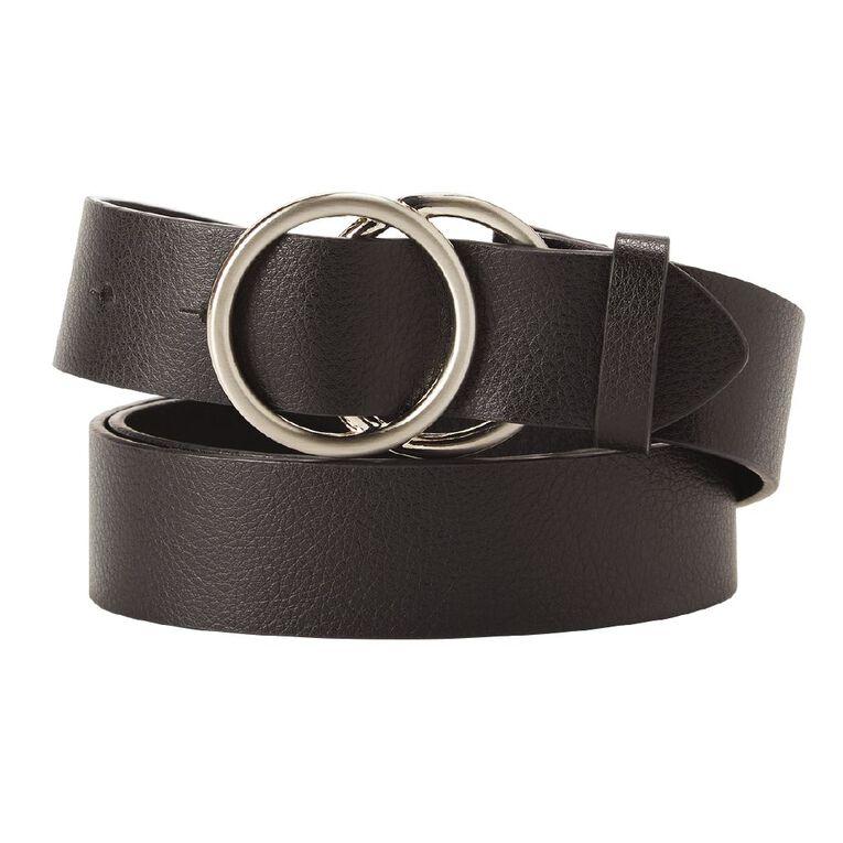 H&H Women's Large Circle Belt, Black, hi-res