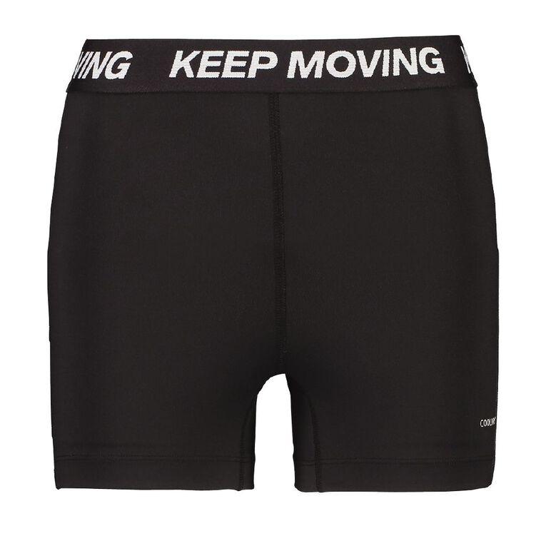 Active Intent Women's PE Bike Shorts, Black, hi-res image number null
