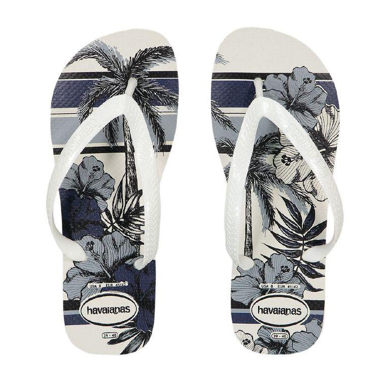 Havaianas Aloha Jandals, White, hi-res