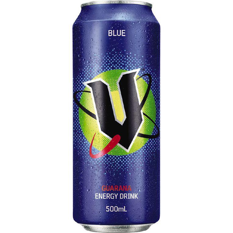 V Energy Drink Blue Can 500ml, , hi-res