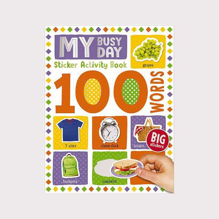100 Word My Busy Day Sticker Book, , hi-res image number null