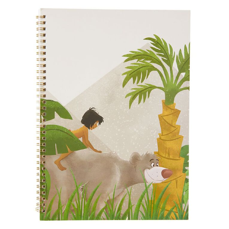 Disney Jungle Book Softcover Spiral Notebook Green A4, , hi-res image number null