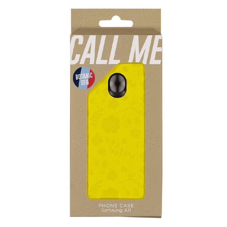 Botanic Geo Samsung A11 Phone Case Mustard, , hi-res