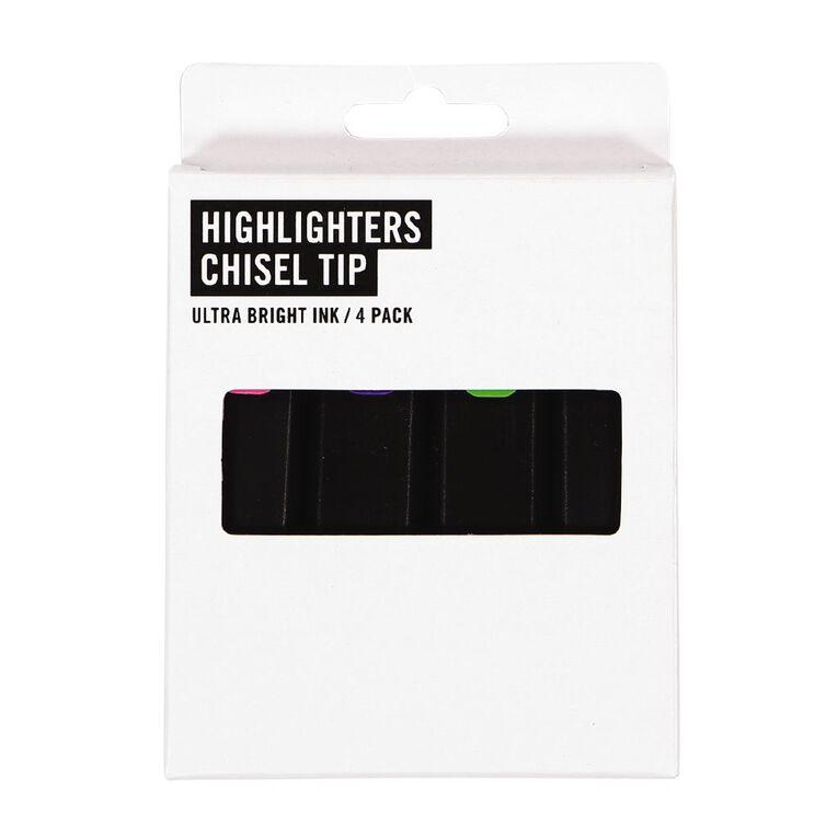 Necessities Brand Highlighter Short Mixed Assortment 4 Pack, Mixed Assortment, hi-res