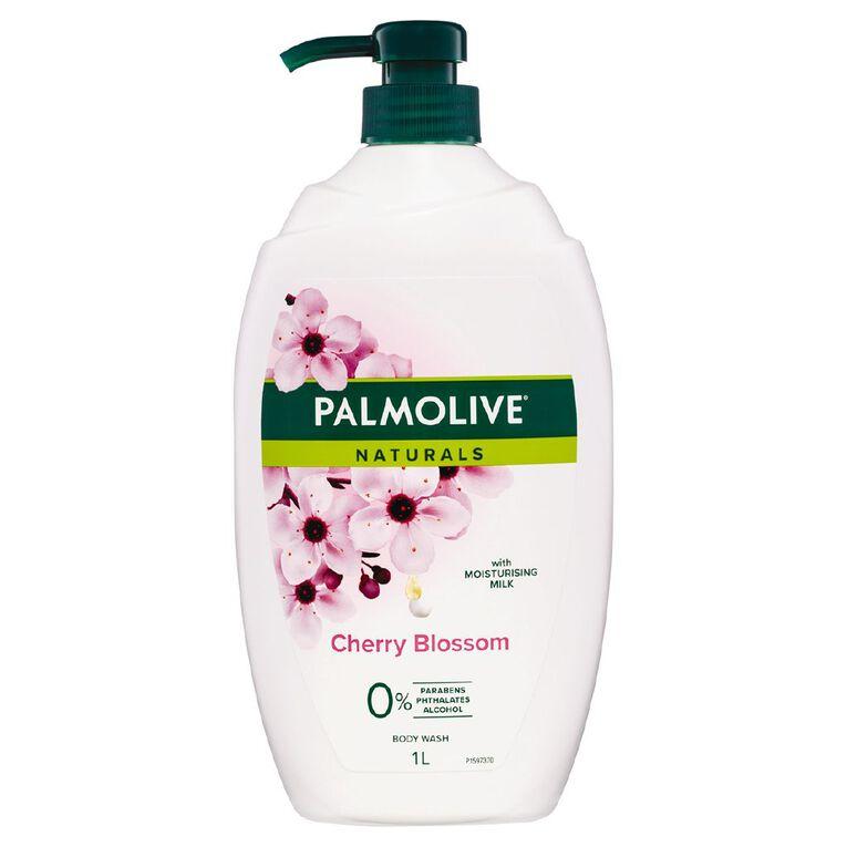 Palmolive Naturals Milk & Cherry Blossom Body Wash 1L, , hi-res