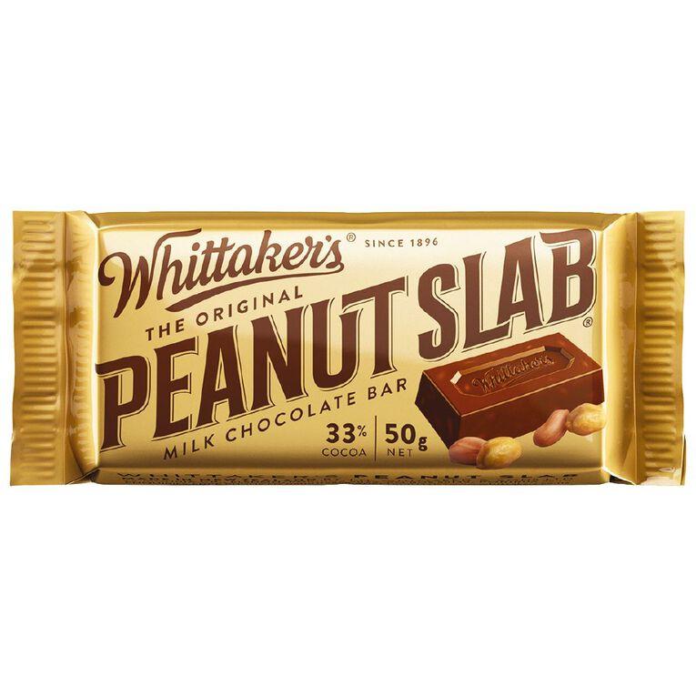 Whittaker's Original Peanut Slab Single 50g, , hi-res