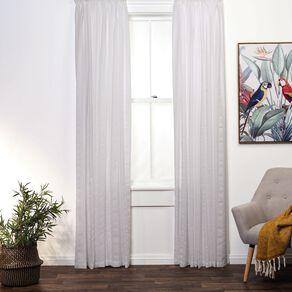 Living & Co Seersucker Voile V1 White