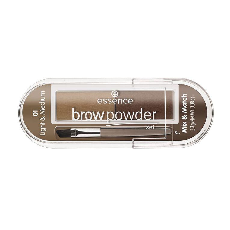 Essence brow powder set 01, , hi-res