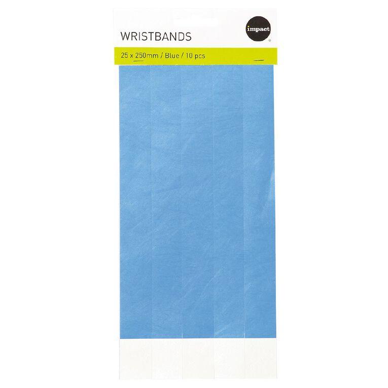 Impact Wristbands Blue 10 Pieces, , hi-res