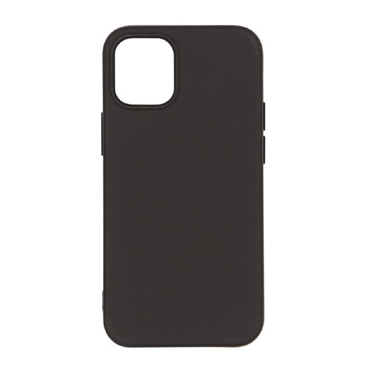 Tech.Inc iPhone 12 Mini Semi-hard TPU Case Black, , hi-res