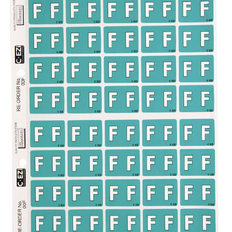 Filecorp Coloured Labels F Green, , hi-res