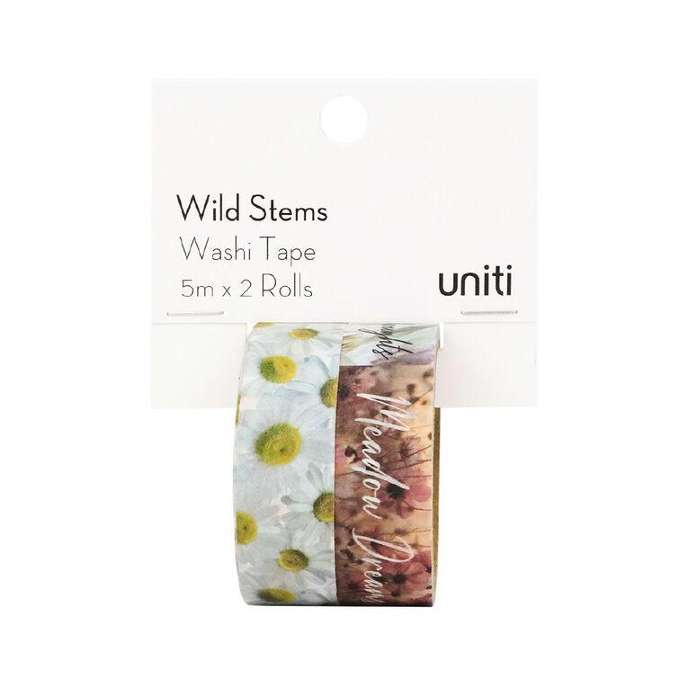 Uniti Wild Stems Washi Tape 2 Pack Design 1, , hi-res