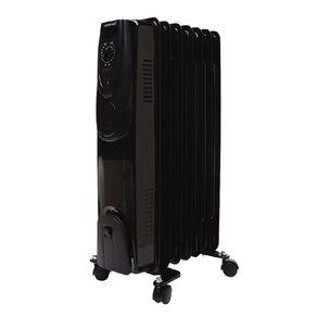 Living & Co Oil Heater 7 Fin Black 1500w