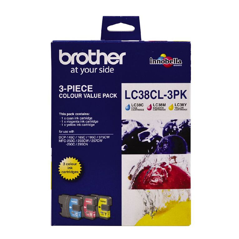 Brother Ink LC38 Colour 3 Pack (260 pages), , hi-res