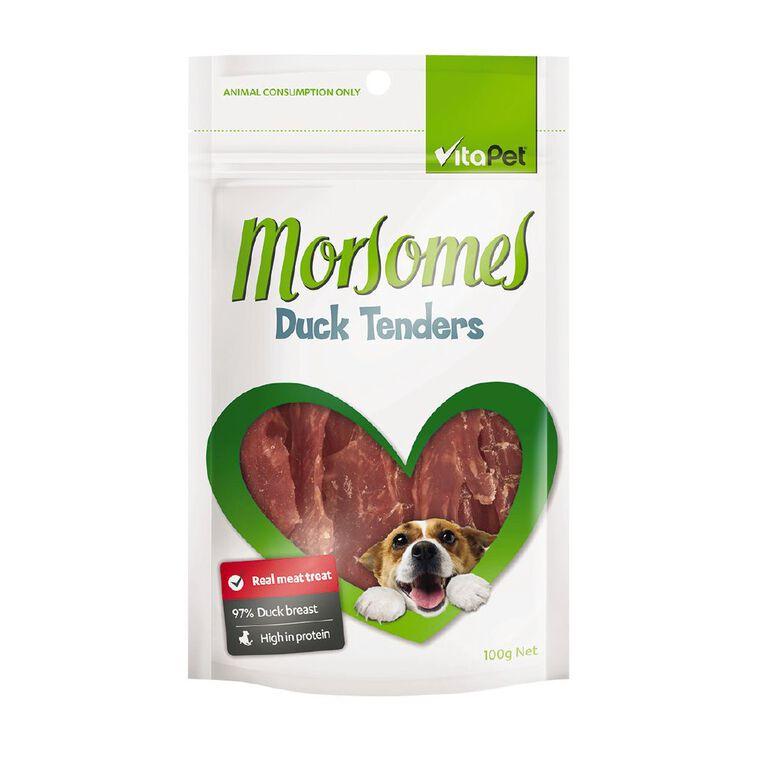 Vitapet Morsomes Duck Tenders 100g, , hi-res