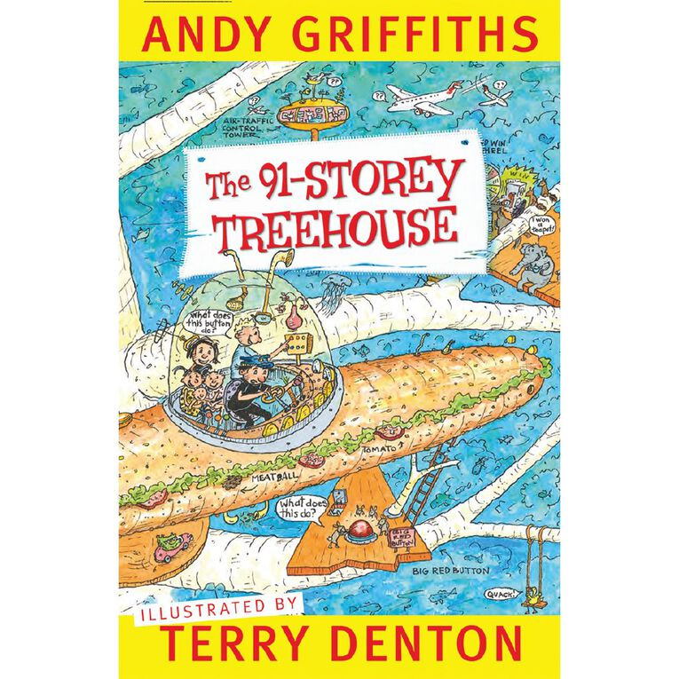 The 91-Storey Treehouse by Andy Griffiths & Terry Denton, , hi-res