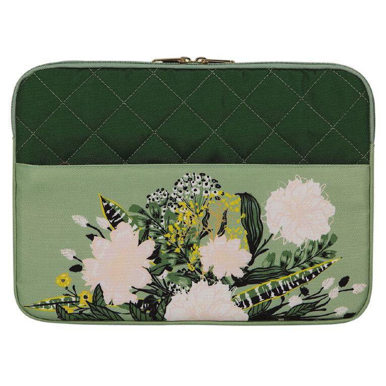 Conservatory Notebook Sleeve 14.1 inch Flower Arrangement Green, , hi-res