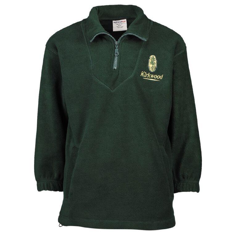 Schooltex Kirkwood Intermediate Polar Fleece Top with Embroidery, Bottle Green, hi-res