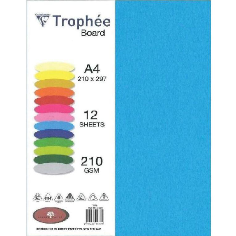 Trophee Board 210gsm 12 Pack Royal Blue A4, , hi-res