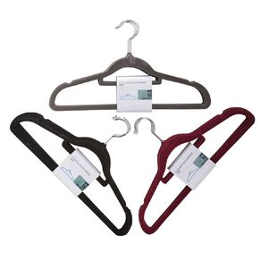 Living & Co Flocked Coat Hangers Assorted 8 Pack