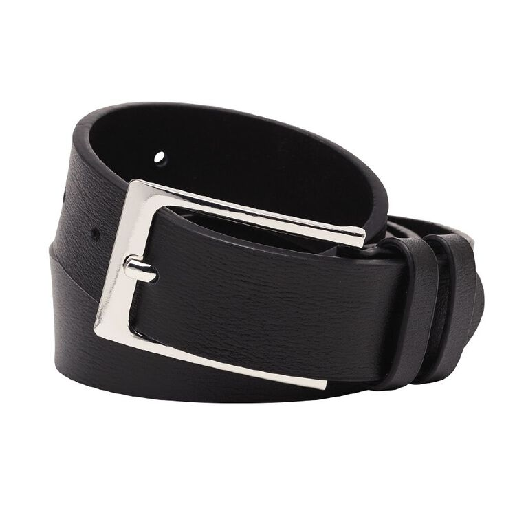 H&H Men's Dress Belt, Black, hi-res