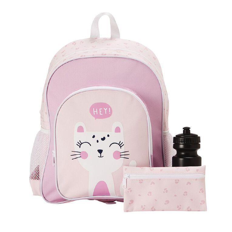 H&H Cat Print Bundle Backpack, Pink, hi-res
