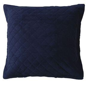 Living & Co Pillowcase Euro Velvet Pinsonic Navy 65cm x 65cm