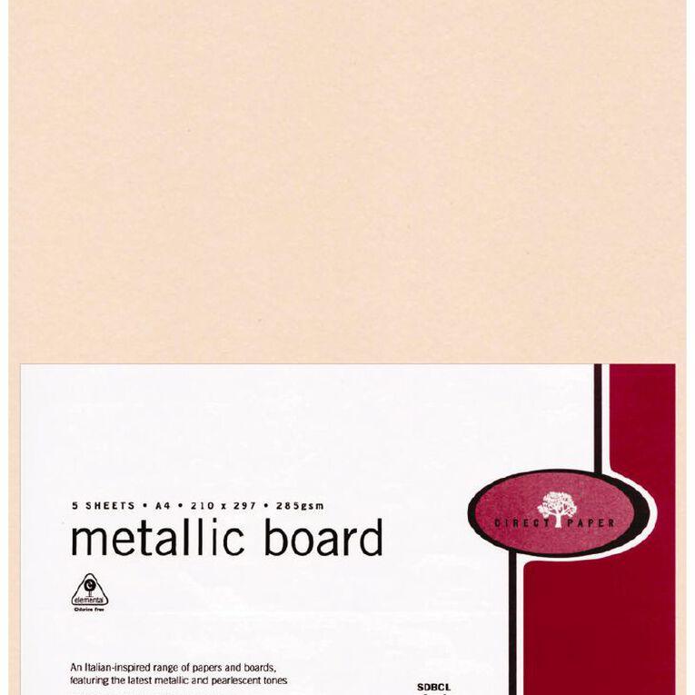 Direct Paper Metallic Board 285gsm 5 Pack Coral A4, , hi-res