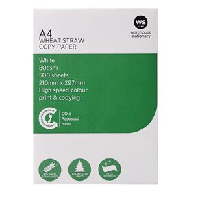 WS Photocopy Paper Wheat Based 80gsm 500 Sheet White A4