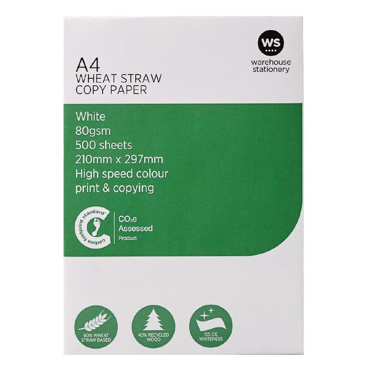 WS Photocopy Paper Wheat Based 80gsm 500 Sheet White A4, , hi-res