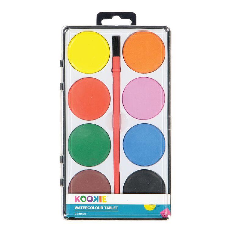 Kookie Watercolour Tablet 8 Pack Multi-Coloured, , hi-res