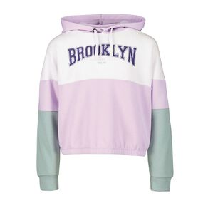 Young Original Cropped Splice Hoodie