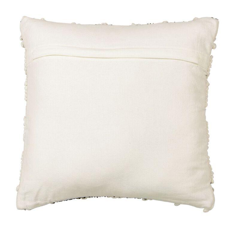 Living & Co Kilim Bobble Cushion White 45cm x 45cm, White, hi-res