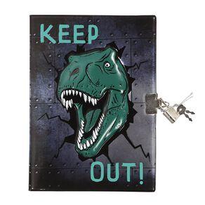 Kookie Rawr Notebook Harcover With Lock Novelty Dino Green Dark
