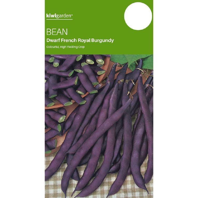 Kiwi Garden Bean Royal Burgundy Dwarf French, , hi-res