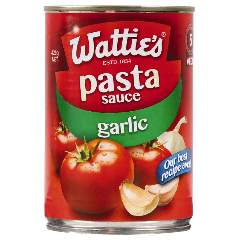 Wattie's Traditional Pasta Sauce with Garlic 420g 420g, , hi-res