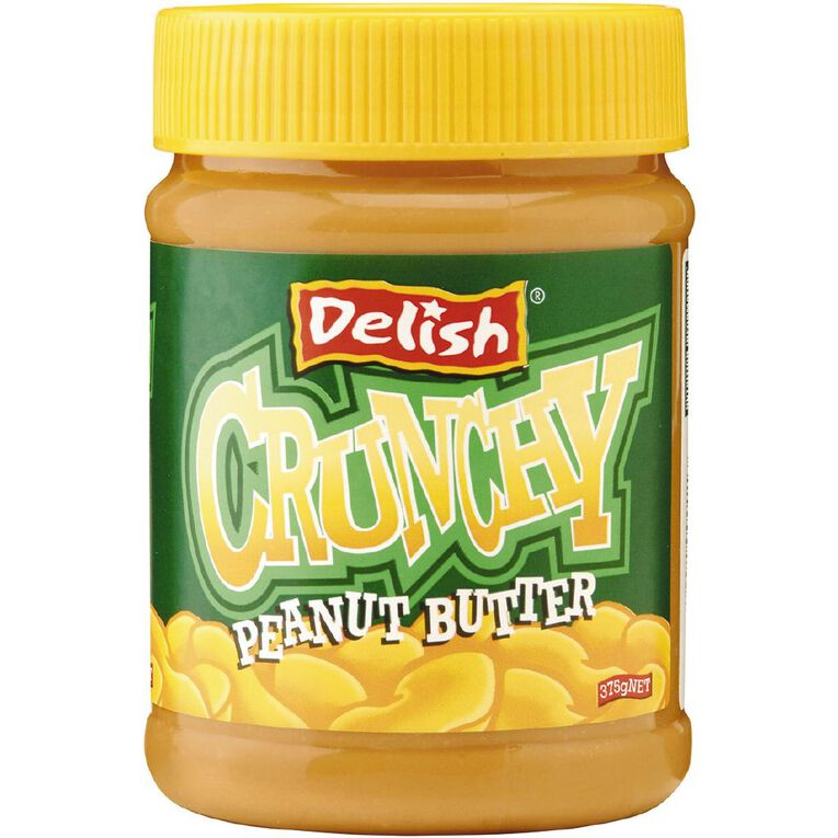 Delish Peanut Butter Crunchy 375g, , hi-res