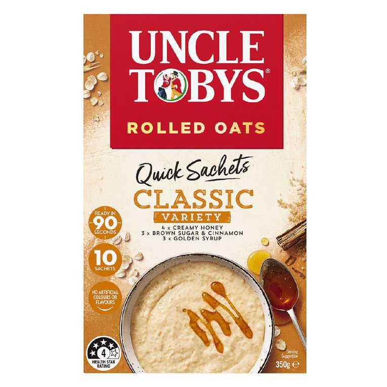 Uncle Tobys Quick Oats Classic Variety 350g, , hi-res