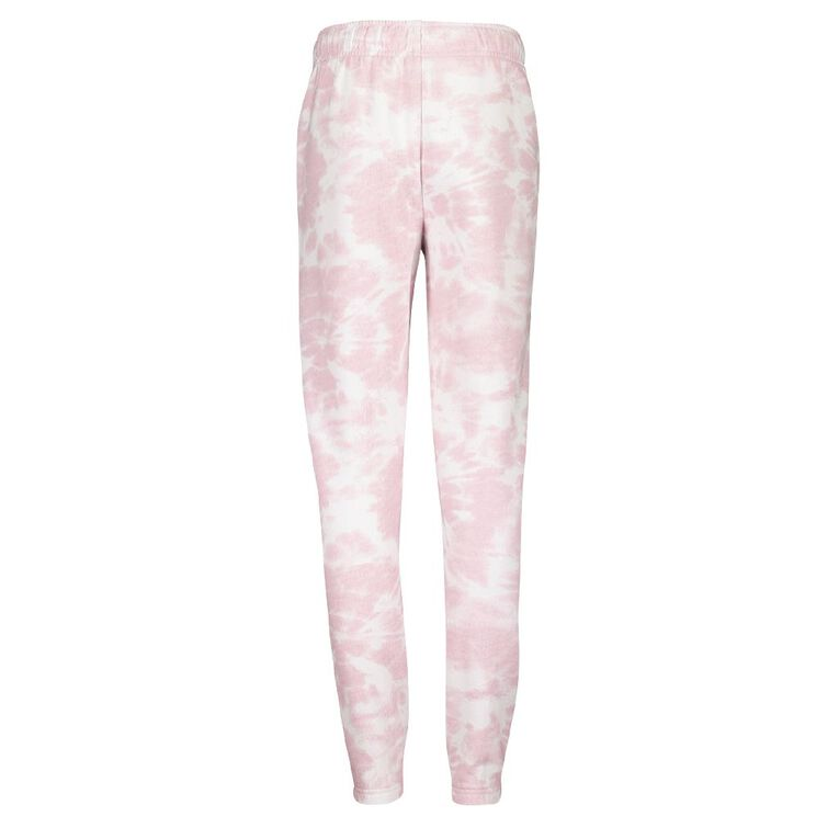 Young Original Girls' All Over Print Jogger Trackpants, Pink Mid, hi-res image number null