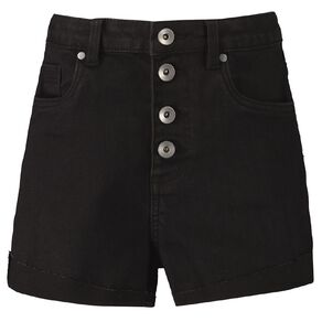 Young Original High Waisted Denim Shorts
