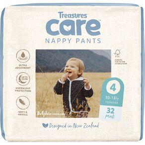 Treasures Care Nappy Pants 4 Toddler Bulk 32pk